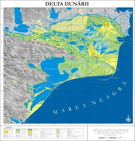 Danube Delta Map [geo-spatial.org]